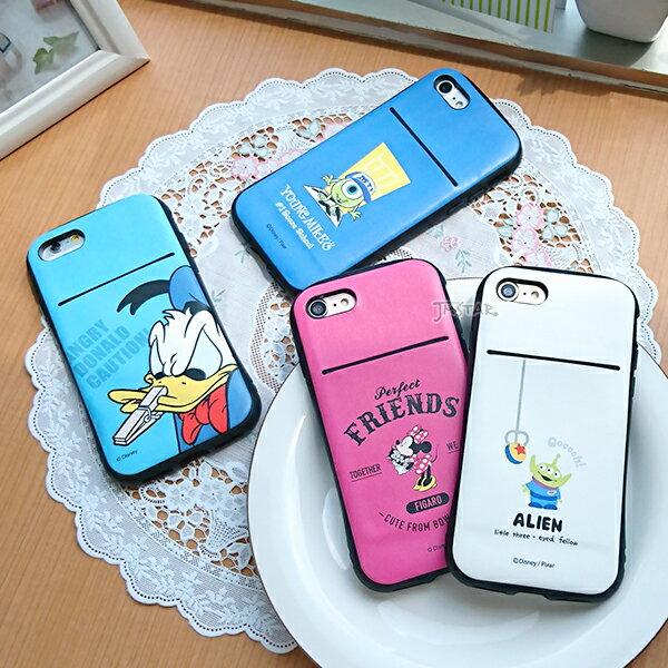 iPhone 8 / 7 手機殼 迪士尼 正版授權 軍規防撞 / 防摔 插卡 軟殼 4.7吋-米妮 / 唐老鴨 / 三眼怪 / 大眼仔 1