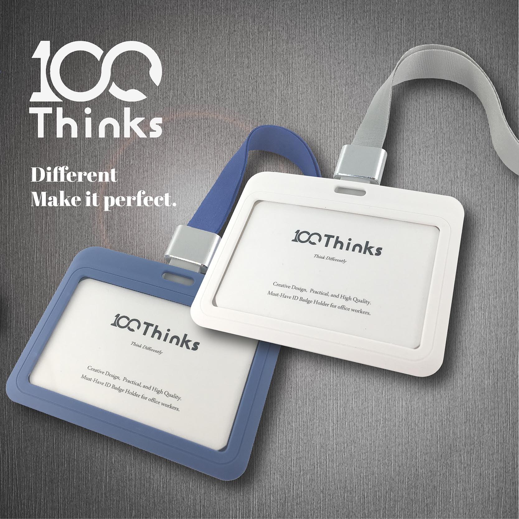 ☺質感卡套☺ 100Thinks 識別證件卡套-橫式 (卡夾 證件套 識別證套 行李吊牌 名牌 悠遊卡)
