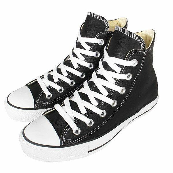 【CONVERSE】CHUCK TAYLOR ALL STAR LEATHER 基本款 休閒鞋 黑色高筒皮面 黑色 情侶鞋 (男女鞋)132170C【樂天會員限定 | 03/01-03/31單筆滿10..