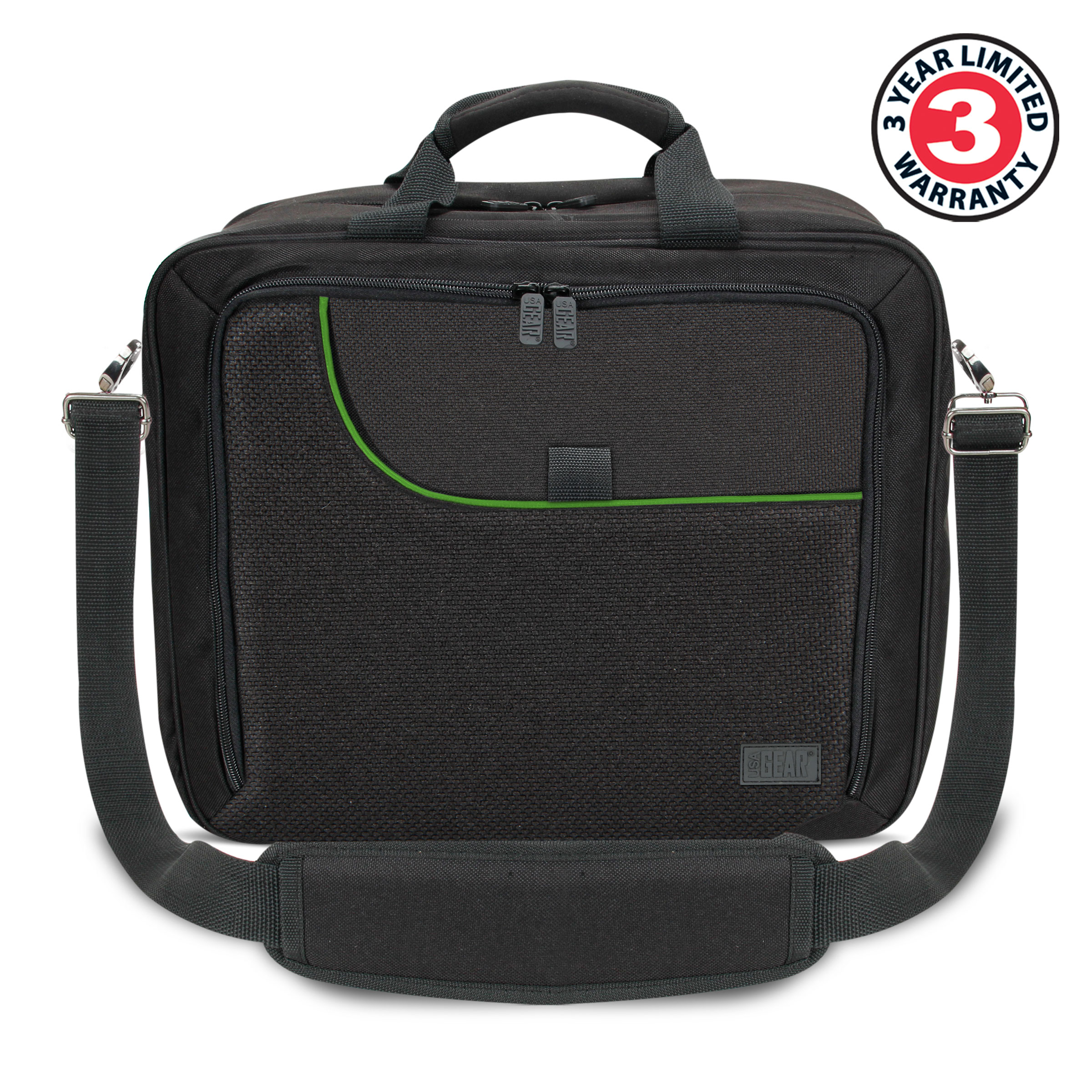 Xbox One Travel Carrying Case with Kinect Pouch , Shoulder Strap , Game Pockets & Accessory Pockets 2