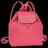 LONGCHAMP Le Pliage Cuir 女士系列粉红色羊皮超小號雙肩包 L1306737018 1