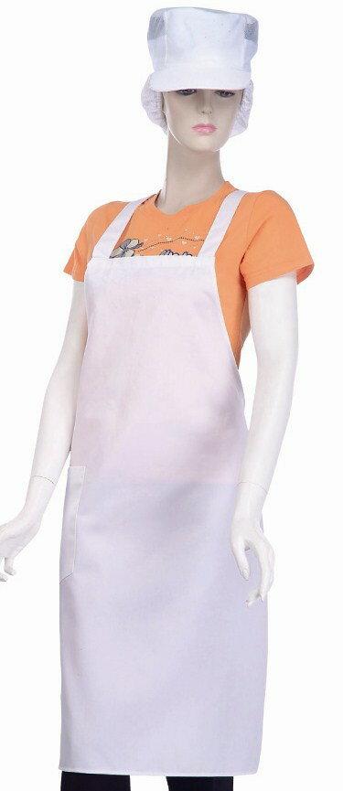 餐飲考試**西餐圍裙**TC連身圍裙-H帶**餐廳,咖啡廳適用