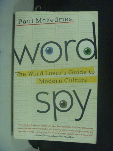 【書寶二手書T3/原文書_HES】Word Spy_McFedries, Paul
