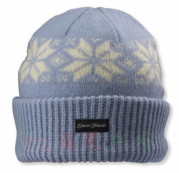 【【蘋果戶外】】Snow Travel AR-18C 反折雪花 3M 男女羊毛帽 遮耳帽 毛線帽 保暖帽 耐冷防寒帽 防風帽