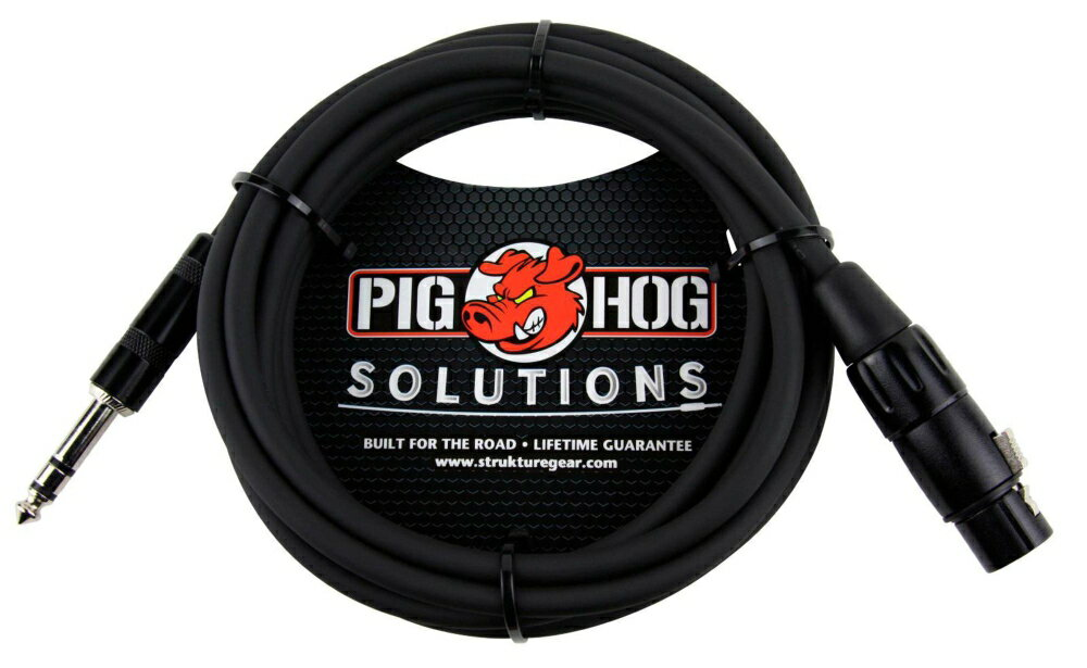 Pig Hog Solutions TRS(M) to XLR(F) Balanced Adapter Cable 10 ft.