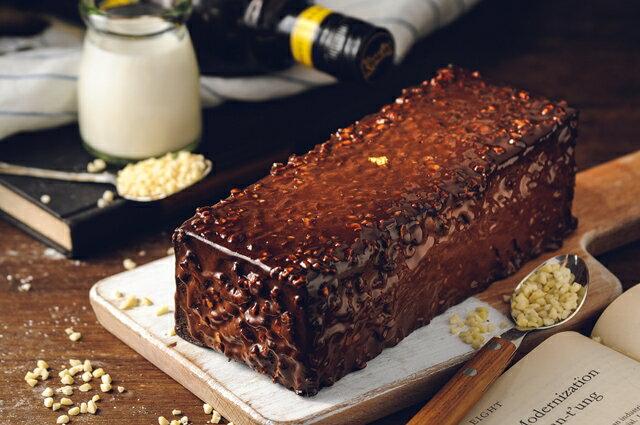 70%比利時黑巧克黑金磚【免運】-70%濃郁巧克力外皮、蛋糕體、內餡,與杏仁碎果的美味交融★5月全館滿499免運 4