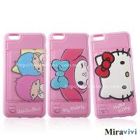 美樂蒂手機配件推薦到Sanrio三麗鷗iPhone 6 Plus/6s Plus(5.5吋)可立式經典大頭皮革保護套就在Miravivi推薦美樂蒂手機配件