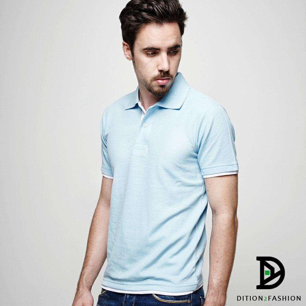 DITION 職人拼接雙色POLO衫 多尺寸情侶款 紳士休閒 2