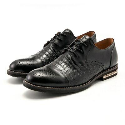 短靴真皮繫帶靴子-商務時尚巴洛克雕花鱷魚紋男靴2色73kk96【獨家進口】【米蘭精品】