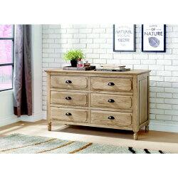 【簡單家具】,H163-05 伊利諾白橡全實木六斗櫃,大台北都會區免運費,組裝定位到好!
