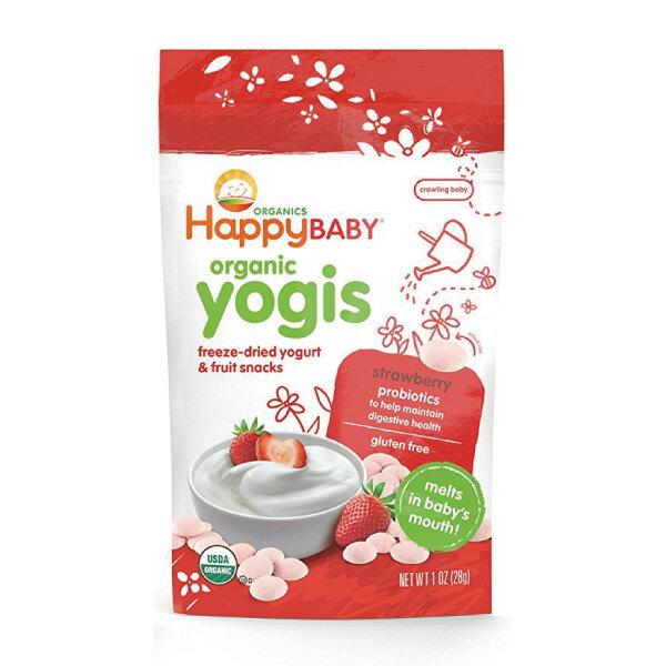 Happybaby 有機嬰兒優格餅(草莓) 28g