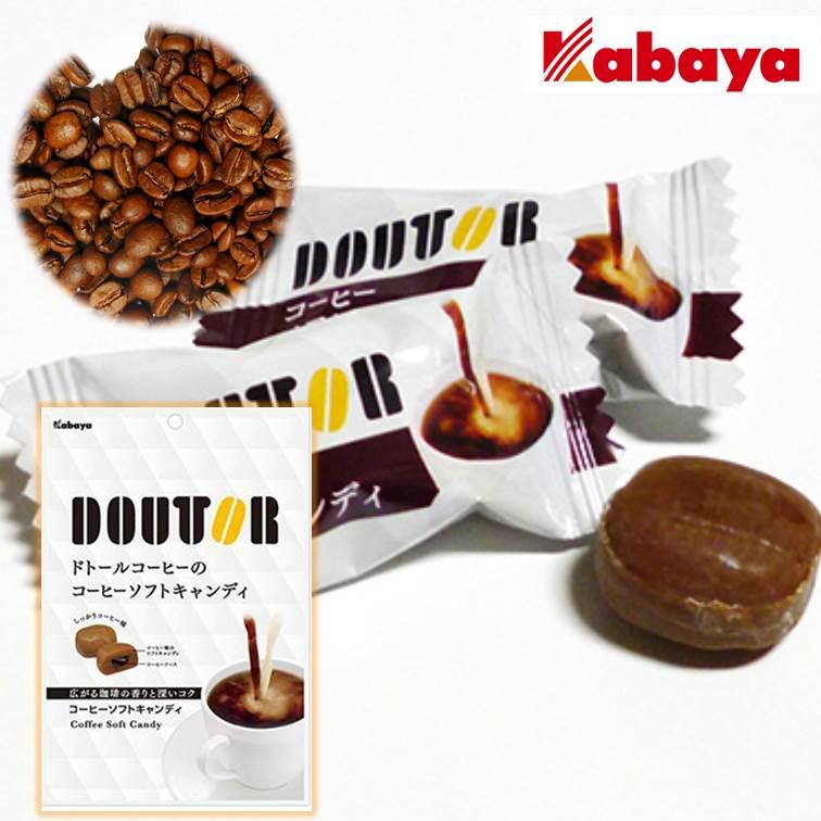 【即期良品】Kabaya卡巴DOUTOR咖啡夾心軟糖60g Coffee Sofy Candy 日本零食 *賞味期限:2018/01/31*★1月限定全店699免運