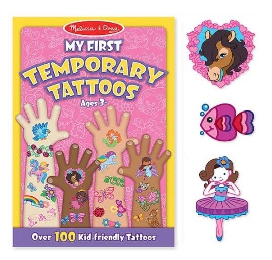 NANABABY:【美國瑪莉莎Melissa&Doug】兒童紋身貼紙簿女孩#MD2946