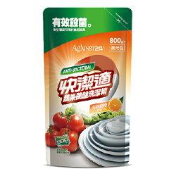快潔適碗盤蔬果洗潔精補充包(800ml)-甜橙
