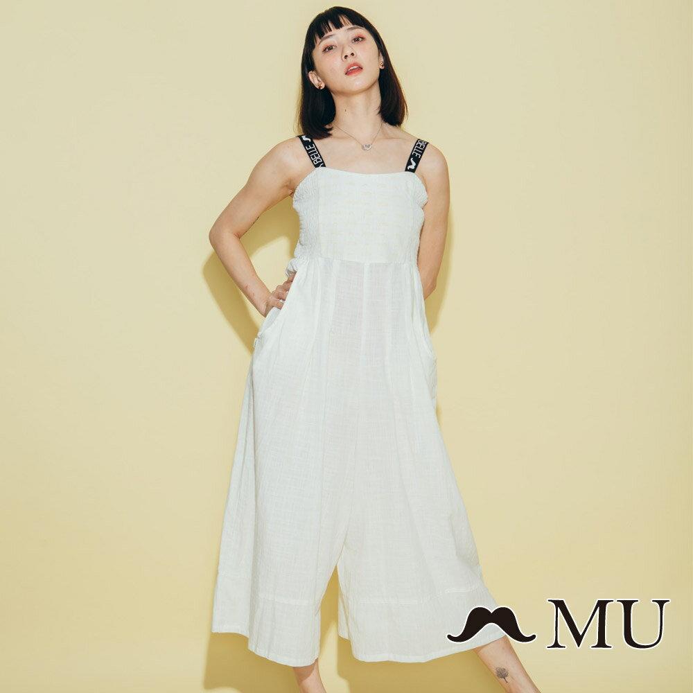 【MU】超美織帶連身寬褲洋裝 8327163 1