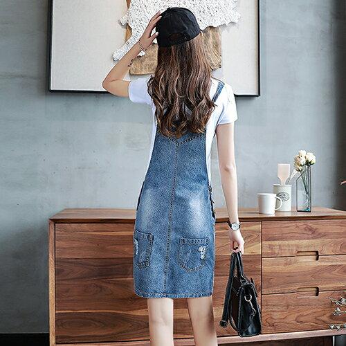 牛仔背帶連身裙(藍色S~2XL)【OREAD】 1