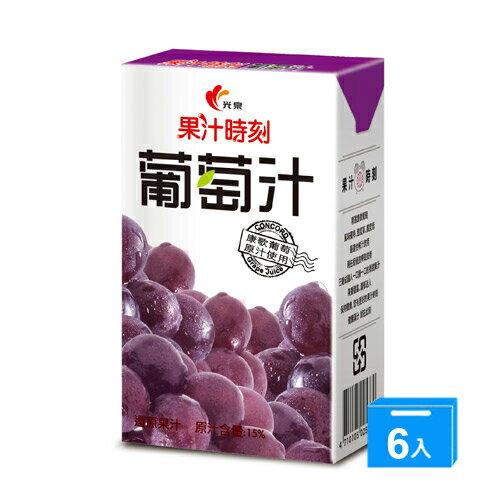 <br/><br/>  光泉果汁時刻-葡萄汁250ml*6入/組【愛買】<br/><br/>