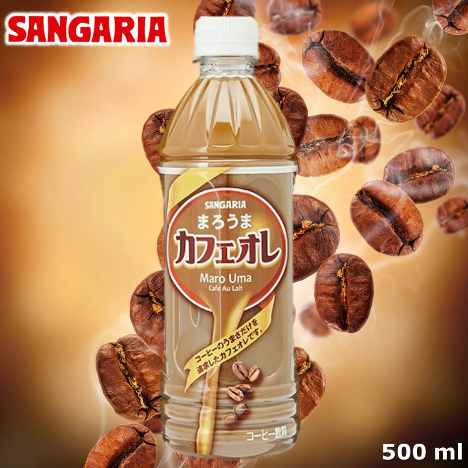 【SANGARIA】香醇咖啡欧蕾饮料 牛奶咖啡 500ml サンガリア まろうまカフェオレ 日本进口饮料