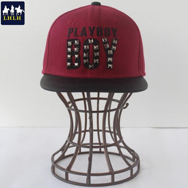 棒球帽 鉚釘 平沿帽 【現貨】