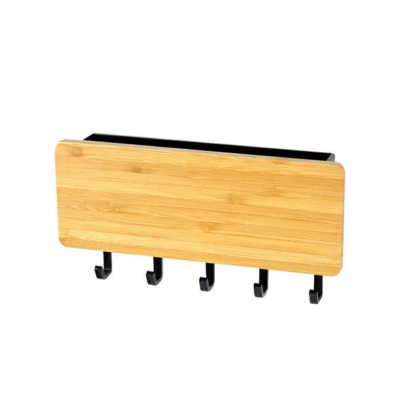 日式和風收納盒鑰匙牆壁掛鉤實木收納掛鉤木質掛物鉤玄關雜物掛架 5
