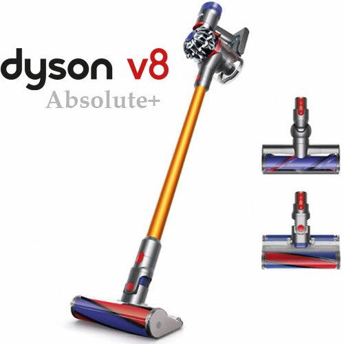 <br/><br/>  【買就送保溫杯】 Dyson 戴森 V8 Absolute+ SV10 無線手持式吸塵器 金色 雙皇大吸頭組<br/><br/>