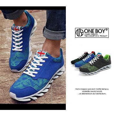『 One Boy 』【R5166】街頭玩酷步伐魚骨刀鋒運動鞋