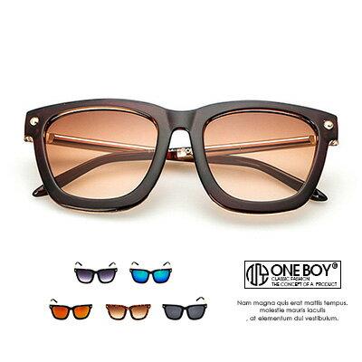 『 One Boy 』【ZU9157】現代經典混搭反光鏡片太陽眼鏡