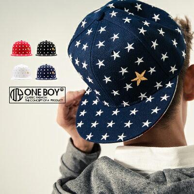 ~ One Boy ~~NU3010~滿版星星電繡 棒球帽