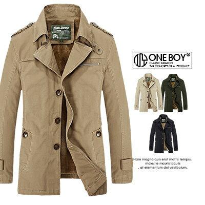 《全店399免運》『 One Boy 』【N5793】紳士翻領設計修身版型保暖外套