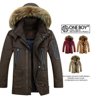 『 One Boy 』【N11010】極致絨毛搭配俐落拉鍊保暖連帽外套