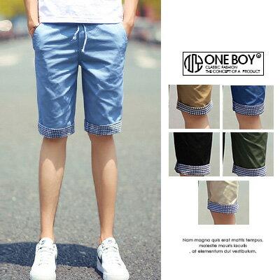 ~全店399~~ One Boy ~~N2083~低調詮釋俐落無印品休閒短褲