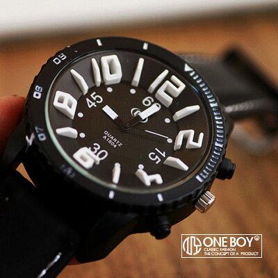 『 One Boy 』【N308070】街頭亮色概念立體凸字手錶