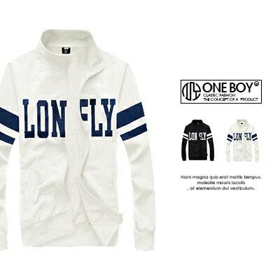 『 One Boy 』【N36651】時尚型男螺紋立領修身棉外套