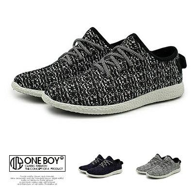 『 One Boy 』【R2592】潮男定翻款飛織藝術休閒百搭鞋款