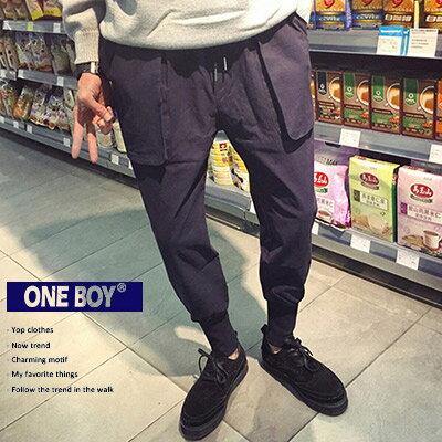 《全店399免運》『 One Boy 』【N19066】現代復刻日系關鍵忍者休閒縮口褲
