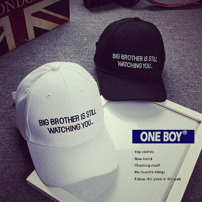 ~ One Boy ~~NU1670~英文標語字樣 休閒棒球帽