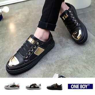 『 One Boy 』【R80054】未來感金屬拼接街頭休閒鞋