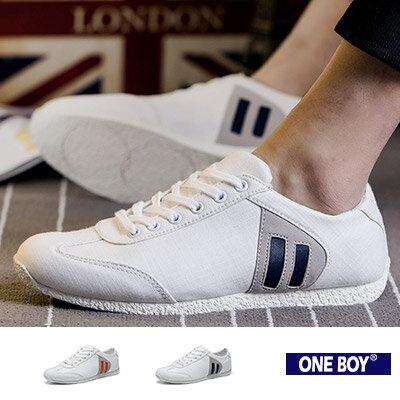 『 One Boy 』【R80064】春夏好感新作色系拼接造型休閒鞋