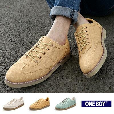 『 One Boy 』【R80066】多樣玩色系簡潔實搭造型休閒鞋