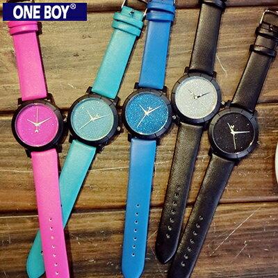 『 One Boy 』【N8162】夜光星空設計感休閒數字手錶