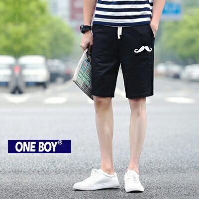 『 One Boy 』【N51217】趣味老爺圖樣設計束繩休閒短褲