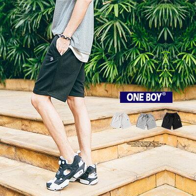 『 One Boy 』【O160510】原創工藝純色美學穿搭休閒純棉短褲