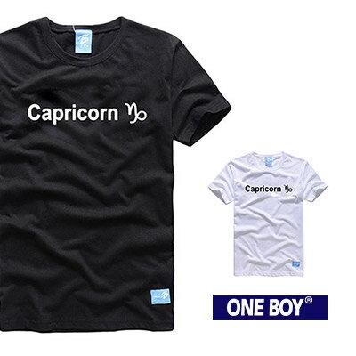 『 One Boy 』【O160619】摩羯座-質感十二星座休閒短袖T恤
