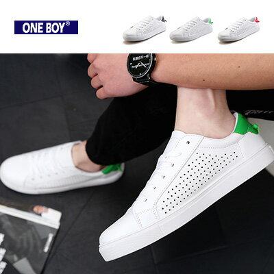 『 One Boy 』【R7319】素面百搭時尚打結設計休閒鞋