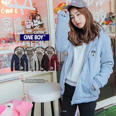 『 One Boy 』【N1719】高磅內裏絨毛貼牌點綴保暖外套