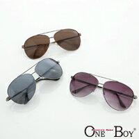 『 One Boy 』【ZU951】復古中性百搭率性金屬圓框雷朋太陽眼鏡墨鏡 3色 UV400