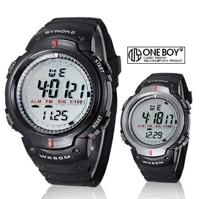 『 One Boy 』【N61576】俐落簡約系防水運動電子手錶