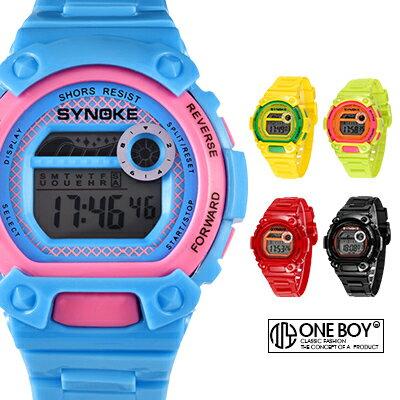 《全店399免運》『 One Boy 』【N67276】經典玩味概念撞色感運動腕錶