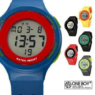 『 One Boy 』【N67866】極撞色繽紛色漾果凍電子腕錶 6色