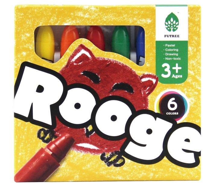 『121婦嬰用品館』ROOGE 任意塗鴉蠟筆6色(可水洗) 0